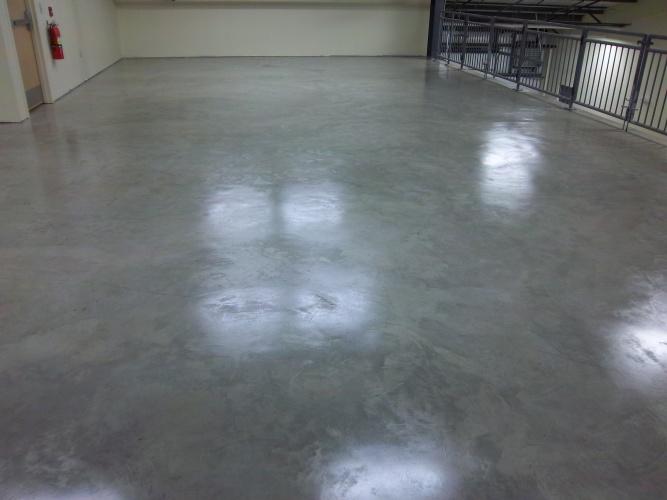 After: sealed floor