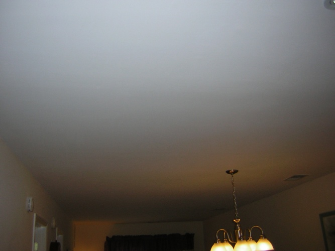 After: smooth painted ceiling
