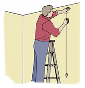 How To Make A Plumb Bob Line For Painting Wall Stripes