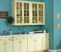 Low sheen paint on kitchen walls