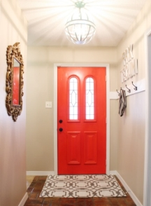 Glossy Paint On A Front Door The Last Category Of Interior Finishes