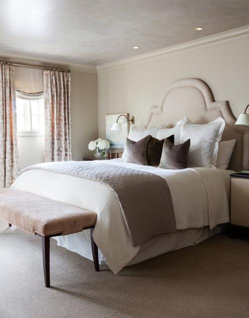 Monochromatic bedroom paint and decorating color scheme
