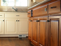 Staining kitchen cabinets - New Jersey project