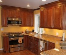 kitchen cabinet stain and refinishing