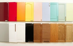 kitchen cabinet doors painted different colors