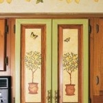 kitchen decorating with stencils