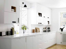 all white kitchen design colors