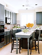 black kitchen design colors