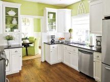 green kitchen design colors