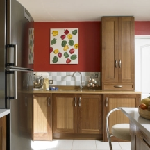 red kitchen design colors