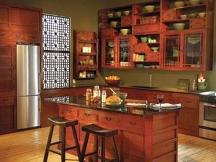 earthy Asian kitchen painting idea