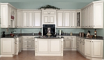 traditional blue kitchen painting idea