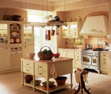 warm beige country kitchen painting idea