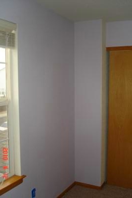 Lavender Haze paint color on the walls