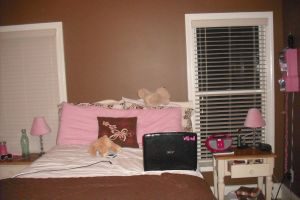 My pink and brown room decor