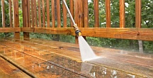 Professional deck cleaning