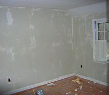 Walls after wallpaper removal
