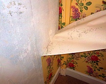 Painting over wallpaper leads to problems