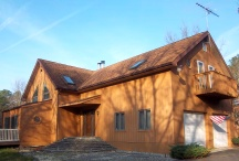 Exterior wood staining