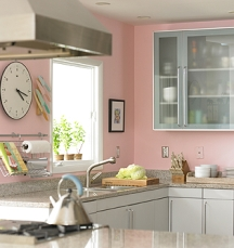 soft pink paint colors for kitchen walls