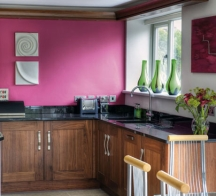 hot pink paint colors for kitchen walls