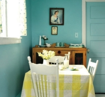 turquoise blue paint colors for kitchen walls