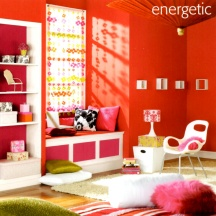 White and other neutrals can help tone down a red-based color scheme