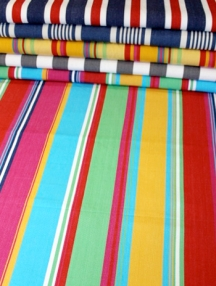 Fabric stores can give you ideas for your wall striping project
