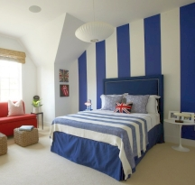 Scale your stripe pattern to work with the room