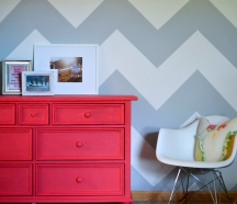 Chevron and grid designs are easier to paint with borders