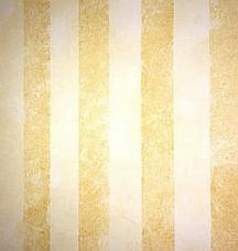 Sponge painted wall stripes