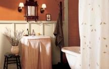 Deep orange color idea for painting a bathroom