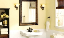 Soft yellow color idea for painting a bathroom