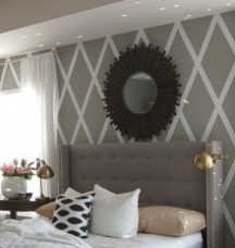 painting combination stripes on walls