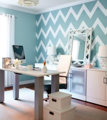 Painting zigzag and chevron patterns requires focus and patience