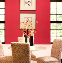 Hot pinks are very energizing but can be irritating when used allover