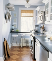 blues and grays are the least popular kitchen colors