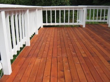 Pigmented sealer on a deck floor