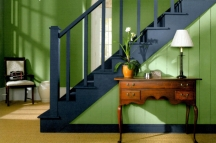 Shades of green paint color can be cool, warm or neutral