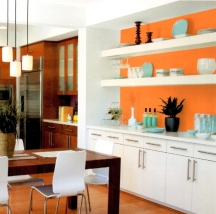 Funky shades of orange are best used as accents