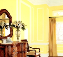 Lemon yellow walls can be hard to live with in common areas