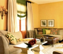 Muted gold is a pleasant and livable shade of yellow