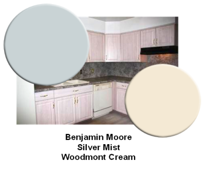 Silver Mist and Woodmont Cream paint colors