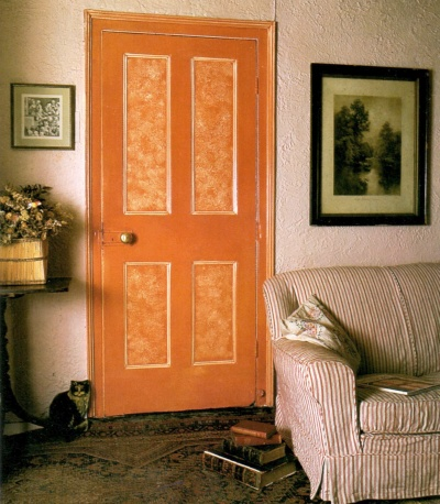 Paint sponging can even be done on doors