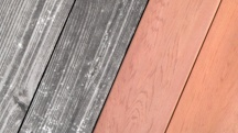 Wood staining effect
