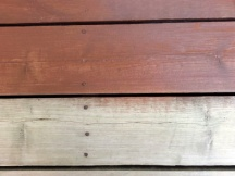 Staining bare wood