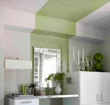 Even a single paint stripe on the ceiling can make a statement
