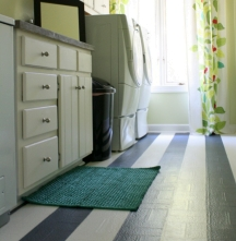 Even linoleum floors can be painted