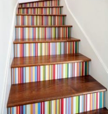 Stairs can be paint striped in any direction