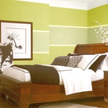 A single band of color on the walls can make a big difference